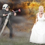 Firefighter´s wedding